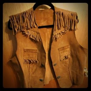Jackets & Blazers - Vintage brown leather vest